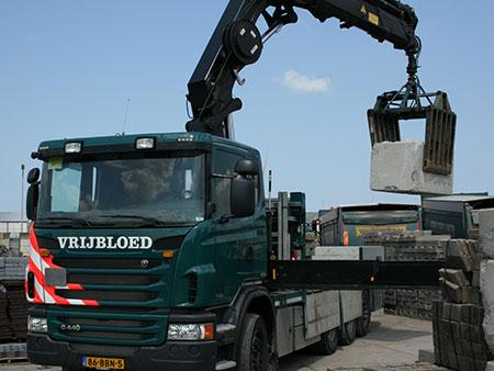 Materieel wagenpark for Vrachtwagen kipper met kraan